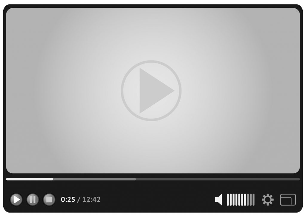 An image of a video player where people watch videos online.