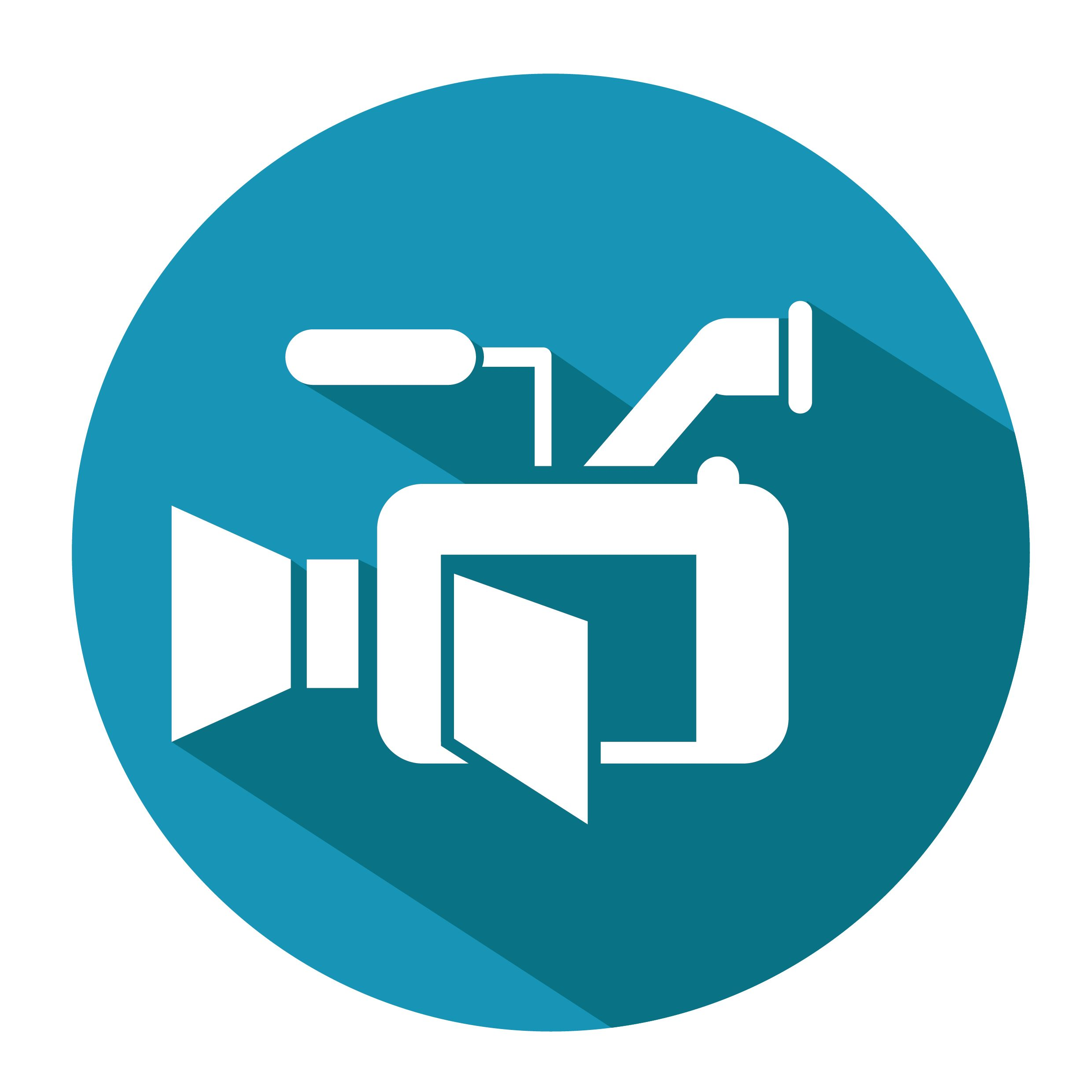 A icon of a video camera, representing our video production tips.