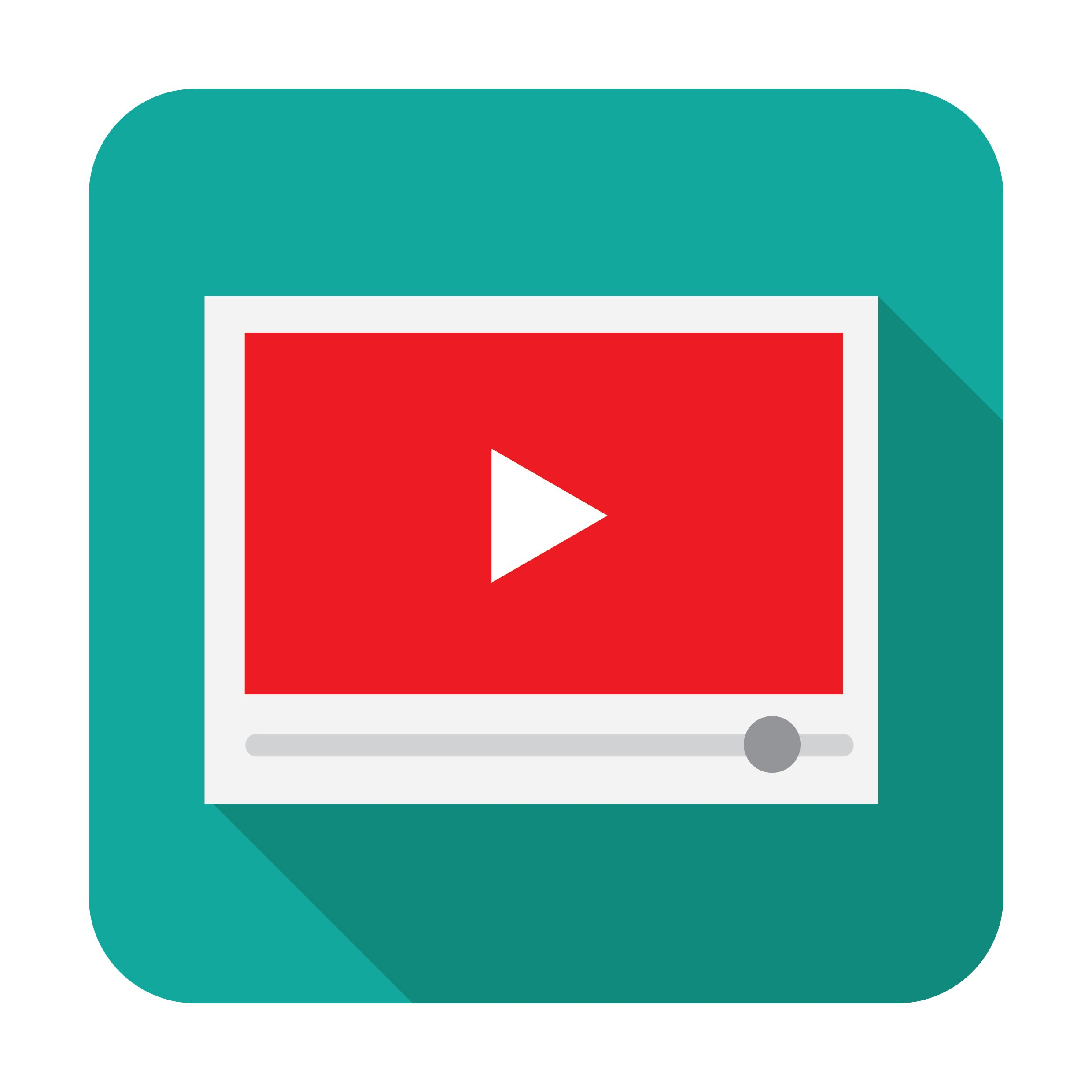 A cartoon image of YouTube videos on a browser.