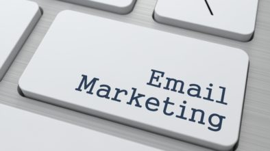 "Button on modern computer keyboard with the words ""Email Marketing"" on it."